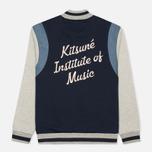 Мужская куртка бомбер Maison Kitsune Teddy Navy/Grey фото- 1
