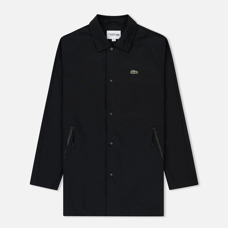 Мужская куртка Lacoste Sport Coated Twill Black/Fluo Zest