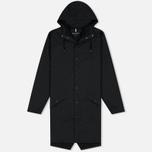 Мужская куртка дождевик Rains Long Jacket Black фото- 0