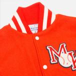 Мужская куртка бомбер Reebok x Maison Kitsune Varsity BOrange/CWhite фото- 2