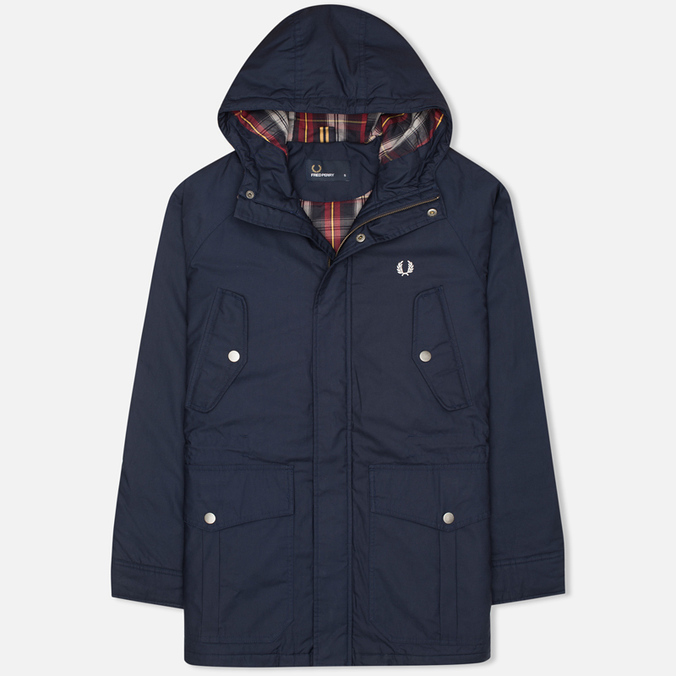 Fred Perry Portwood Men's Parka Dark Carbon
