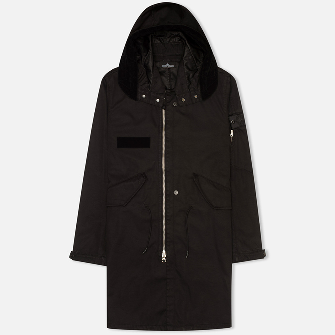 Мужская куртка парка Stone Island Shadow Project Raso-R Hooded Black