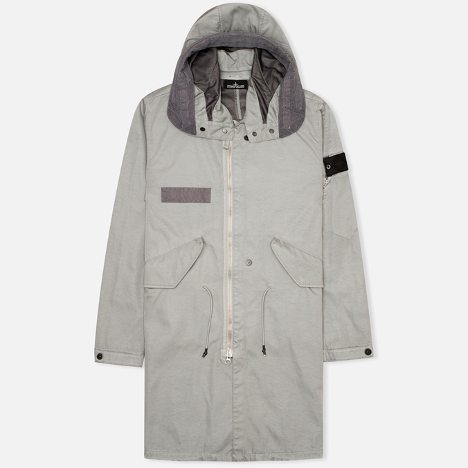Мужская куртка парка Stone Island Shadow Project Raso-R Hooded Grey