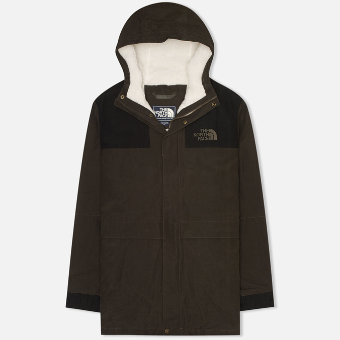 Мужская куртка парка The North Face 1985 Sherpa Mountain Black Ink/Green