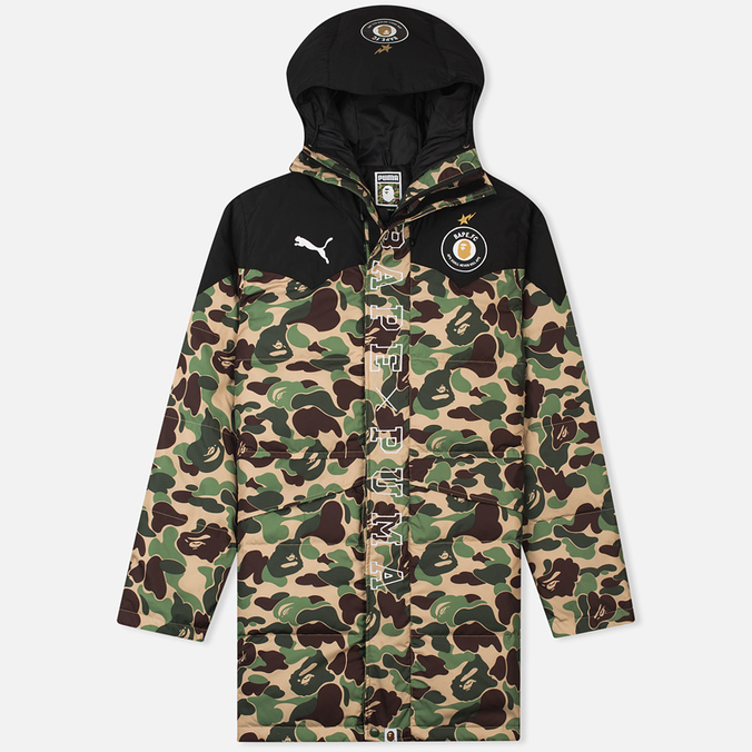 Куртка парка Puma x Bape Long Camo Green