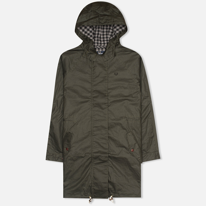 Fred Perry Oversized Fishtail Women's Parka Hunting Green
