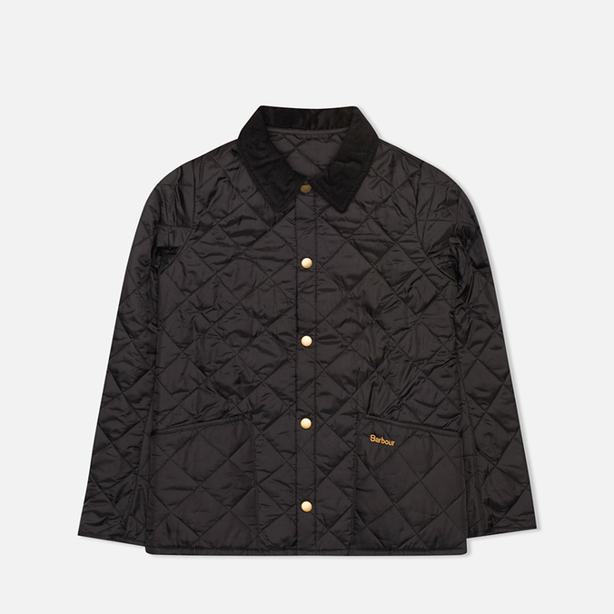 Детская стеганая куртка Barbour Heritage Liddesdale C Black