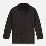 Мужская стеганая куртка Barbour Bardon Dark Brown фото- 0