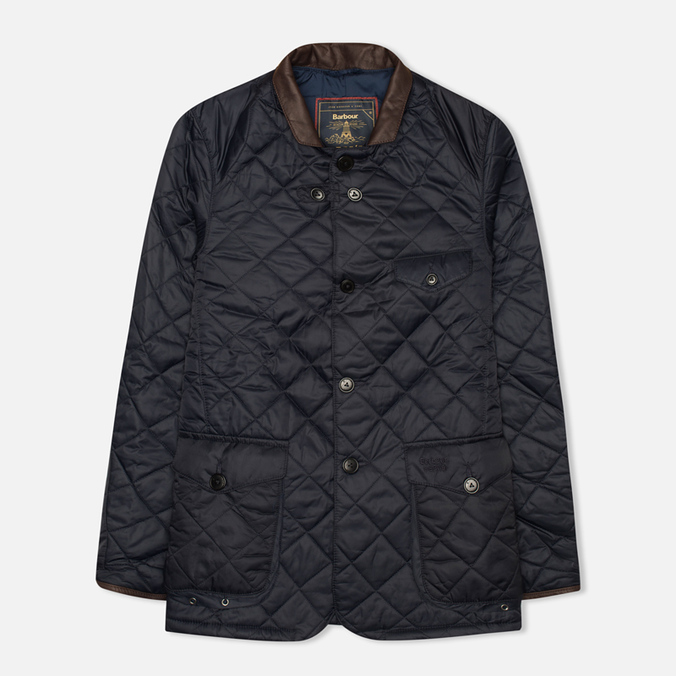 Мужская стеганая куртка Barbour Dept. (B) Beacon Sports Quilted Navy
