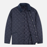 Мужская стеганая куртка Barbour Heritage Liddesdale Navy фото- 1