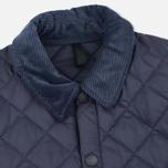 Мужская стеганая куртка Barbour Heritage Liddesdale Navy фото- 2