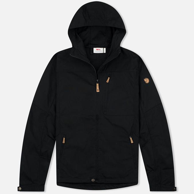 Мужская куртка ветровка Fjallraven Sten Black