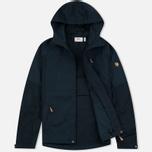Мужская куртка ветровка Fjallraven Sten Dark Navy фото- 1