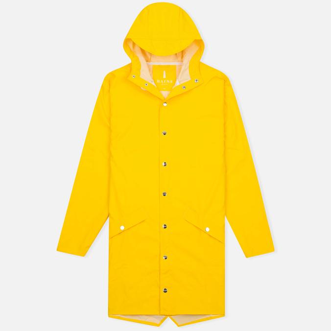 Мужская куртка дождевик Rains Long Jacket Yellow