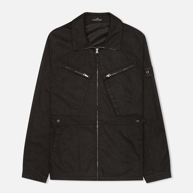 Мужская куртка ветровка Stone Island Shadow Project Blouson Black