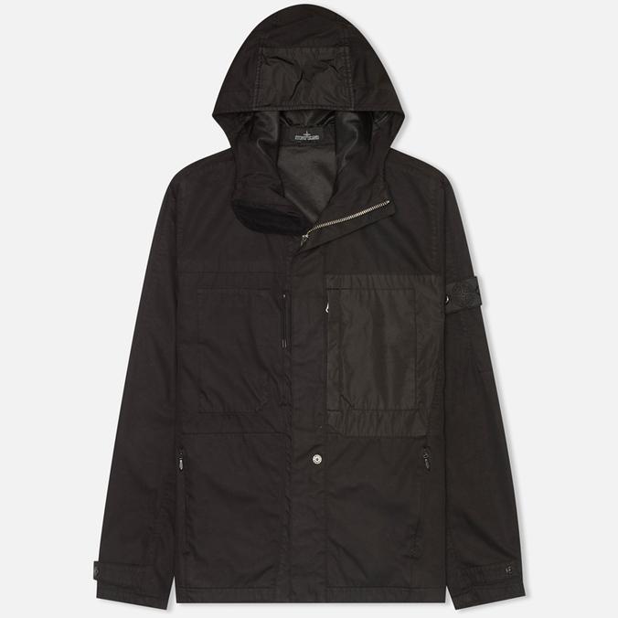 Мужская куртка ветровка Stone Island Shadow Project Raso-R Black