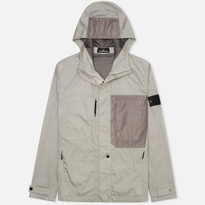 Мужская куртка ветровка Stone Island Shadow Project Raso-R Grey