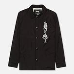 Мужская куртка ветровка Stussy Player Coaches Black фото- 0