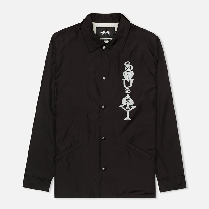 Мужская куртка ветровка Stussy Player Coaches Black