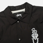 Мужская куртка ветровка Stussy Player Coaches Black фото- 2