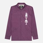 Мужская куртка ветровка Stussy Player Coaches Purple фото- 0