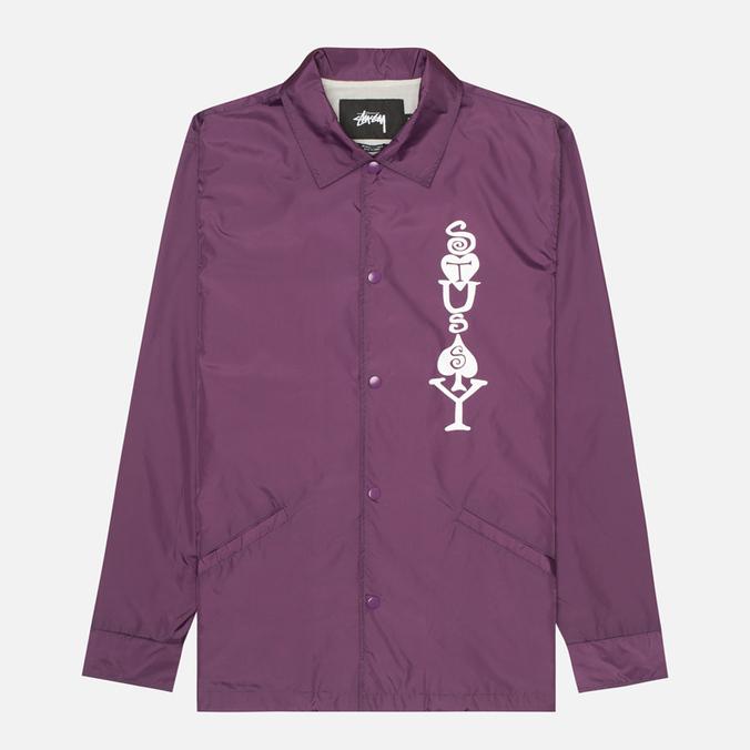 Мужская куртка ветровка Stussy Player Coaches Purple