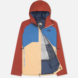 Мужская куртка ветровка The North Face Stratos Moab Khaki/Dish Blue/Brick Red фото- 1