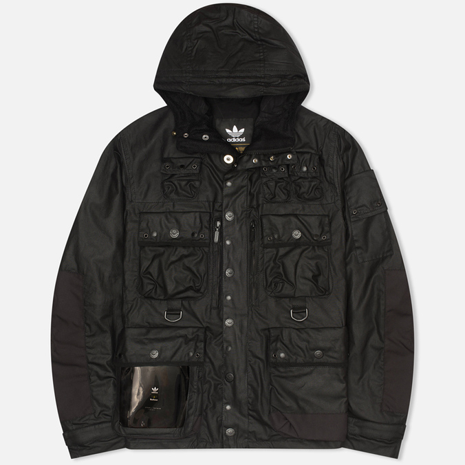Мужская вощеная куртка adidas Originals x Barbour GSG Baradi Nein Black