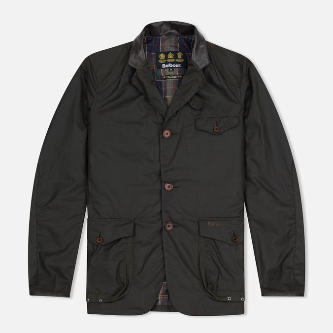 Barbour Dept. (B) Beacon Sports Men's Waxed Jacket Olive
