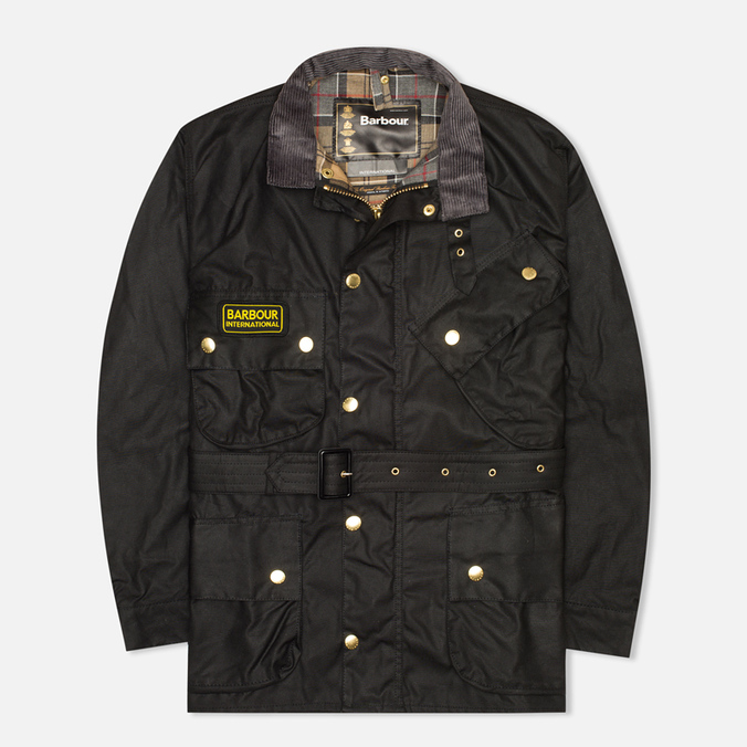 Мужская вощеная куртка Barbour International Original Waxed Black