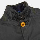 Мужская вощеная куртка Barbour Kempt Wax Navy фото- 3