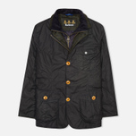 Мужская вощеная куртка Barbour Kempt Wax Navy фото- 0