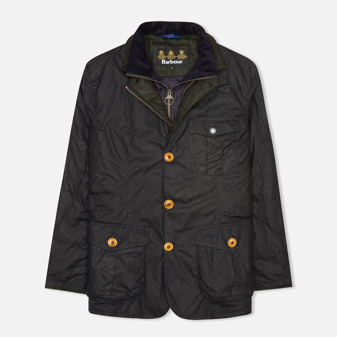 Мужская вощеная куртка Barbour Kempt Wax Navy