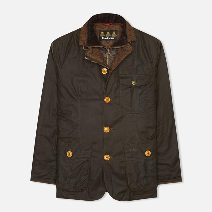 Мужская вощеная куртка Barbour Kempt Wax Olive