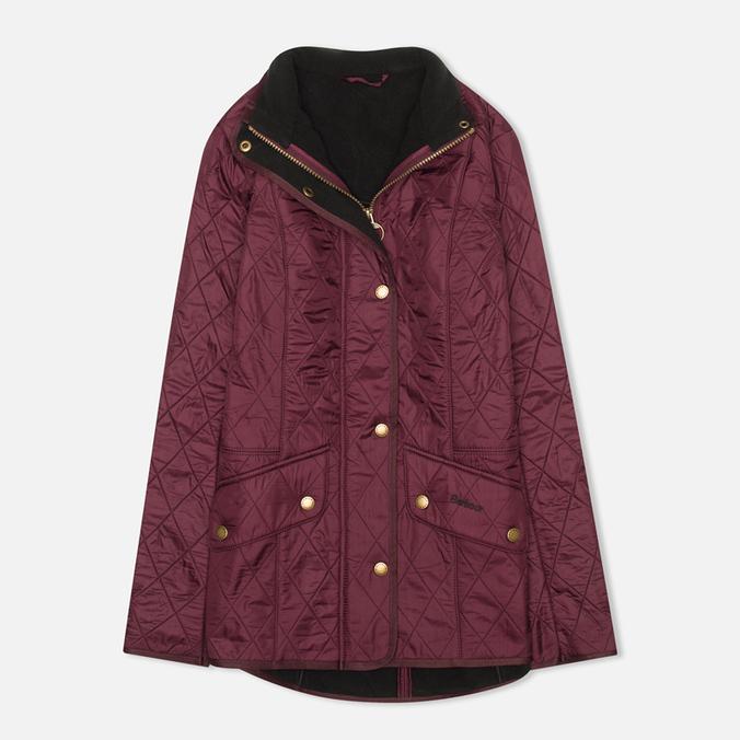 Женская стеганая куртка Barbour Cavalry Polarquilt Bordeaux