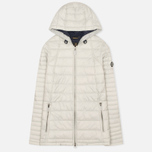 Barbour Landry Quilt Silver Women's jacket Ice/Navy photo- 0