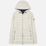 Женская стеганая куртка Barbour Landry Baffle Quilt Silver Ice/Navy фото- 0
