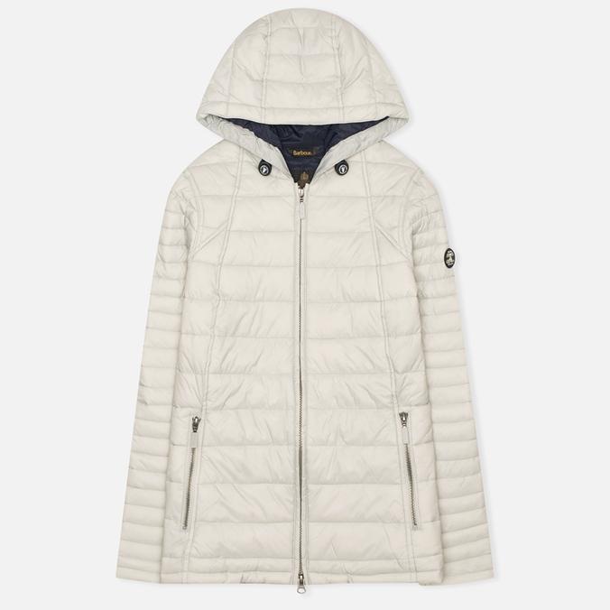 Женская стеганая куртка Barbour Landry Baffle Quilt Silver Ice/Navy