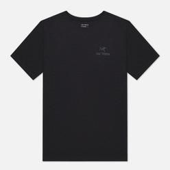 Мужская футболка Arcteryx Emblem SS Black/Grey