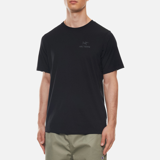 Мужская футболка Arcteryx Emblem SS Black/Black