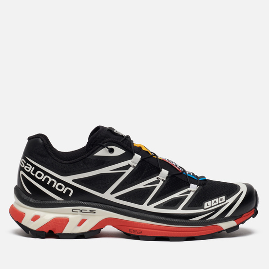 Мужские кроссовки Salomon Sneakers S/Lab XT-6 Softground LT ADV Black/Vanilla Ice/Racing Red