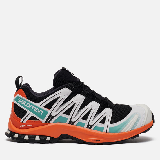 Мужские кроссовки Salomon Sneakers XA Pro 3D ADV Black/Red Orange/Meadowbrook