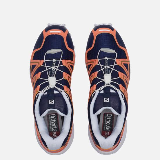 Мужские кроссовки Salomon Sneakers Speedcross 3 Evening Blue/Persimon/Gold