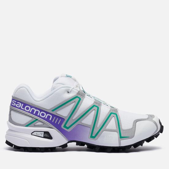 Мужские кроссовки Salomon Sneakers Speedcross 3 White/Silver Metallic X/Parasailing