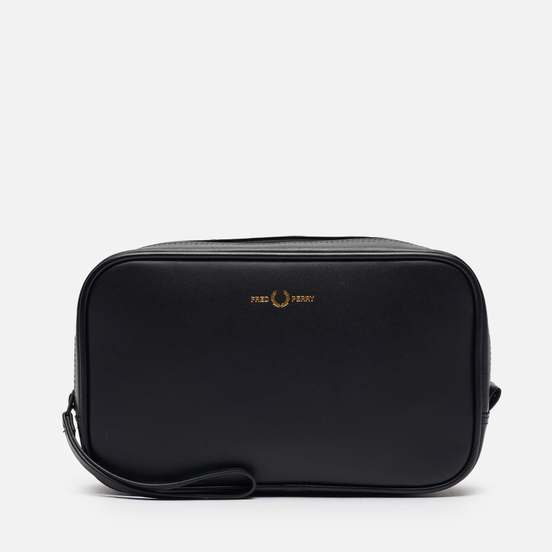Косметичка Fred Perry Leather Travel Black