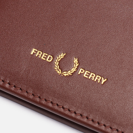 Кошелек Fred Perry Graphic Leather Billfold Tan