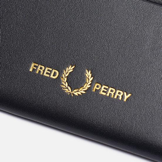 Держатель для карточек Fred Perry Leather Card Holder Black