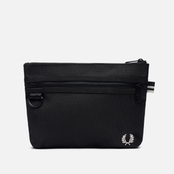 Сумка Fred Perry Textured Flat Crossbody Black