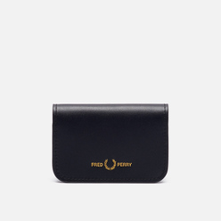 Держатель для карточек Fred Perry Leather Fold Over Card Holder Black