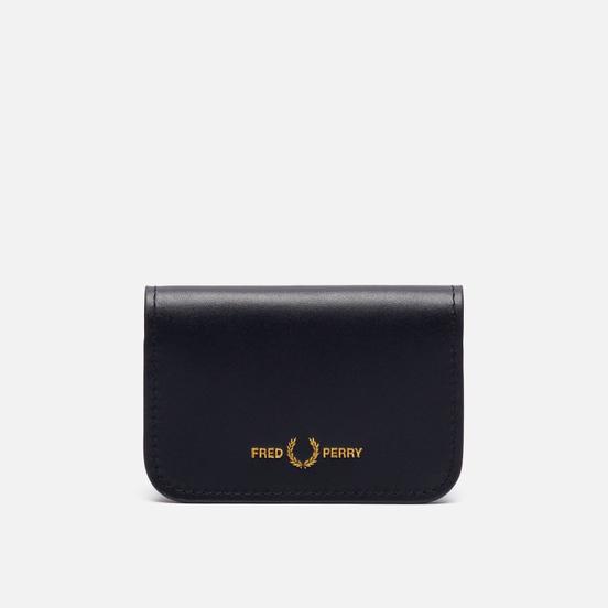 Держатель для карточек Fred Perry Leather Fold Over Card Holder Black